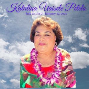 Katalina Uaisele Petelo Obituary Photo