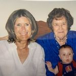 My mom, Charlene, with my Nanny, and son Connor