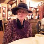 Mom at her 100th birthday dinner.