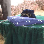 Military flag and Jims remains