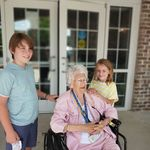 Gigi with 2 of her great grands