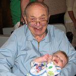 Great Grandpa holding Evan