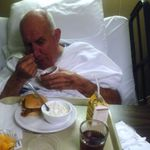 Daddy feeding himself when he 1st enteredthe nursing home