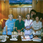 L to R:  Margaret Tanner, Sarah Jackson, Deedie, Omie Jackson, Karen behind Photo taken by Marian Tanner