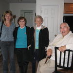 Eileen, Aunt Carol, Aunt Margaret and Dad