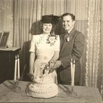 Mr and Mrs Elza V and Virginia R Adams Jan 8, 1948 At Leroy and Mary Doyal's home