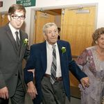 Andrew with his Grandparents