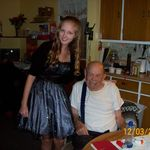 LeAnna and Grandpa before she went to the homecoming dance 2011