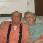 Rex and his wife of 63 years. She was singing him a song.