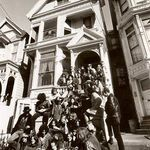 Janis and friends at home 710 Asbury Place, San Francisco.