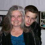 Matthew with his Aunt Debbie...lots of good memories of a kind and loving nephew. He would laugh with me, but catching that on camera was not easy!