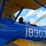 """""""About 3 weeks ago I went for in a flight in  WWII trainer called a stearman that was actually used to train some of the Tuskeegee airmen"""""""
