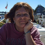 Lynda enjoying life on a vacation we shared in Maine.