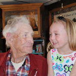Wallace (great grandpa) and Halle Krueger