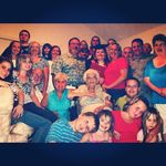 Memaw and all her family all around her. We will never for get you! We love you!