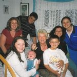 Lydia with her 4 nieces, 2 nephews, and 1 great nephew