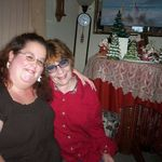Amanda and Cindy at Christmas time