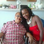 "Marvell and her granddaughter ""Nellie Girl"" Wearing Marvell's favorite Black Cherry lipstick by Revlon. :)"