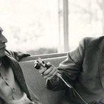Doug DeVitt interviewing Dave Brubeck with Doug Cooper