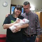 Mom and Johnny when Rilyn was born