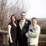 with Nana at Dan & Katie's wedding
