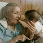 One little ~ two little three little Indian girls!Great Grandma singing to Lily!  G