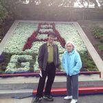 Mom and Kenton at Golden Gate Bridge plaza (Sept 2012)