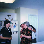 Steve and Sandy with Gloria - always having fun