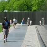 Bruce at the Vietnam Memorial in Washington, DC