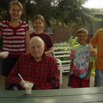 Ice cream with some of the grandkids - 2007