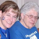 I loved to invite my mom over to watch the COLTS games!  I will miss it but hopefully she can watch from heaven and send some touchdowns their way since she definitely has angel wings!
