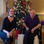 With youngest daughter, Eleanor. Christmas Day, 2012.