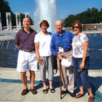 Don, Chris, and Jane with Dad at the WWII Memorial