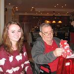 Jessie Bevis with Grandad at 2012 Xmas