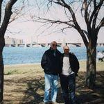 Jim and son-in-law Salvador Alcantara in Boston.