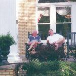 Duane and Dad at at the Blue Willow Inn, Social Circle, GA.
