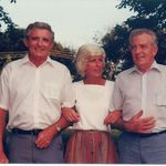 Dad with siblings - Johnny and Louann.