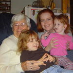 Peyton with Moira, Mommy, and her Great Grandmother Betty Hansen.