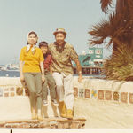 Catalina Island with wife Dora and son Homer