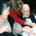 Miyo, Ken, and granddaughter Kara 1995