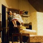 Virginia as Mrs. Banks with Ray Geiger as Paul  Barefoot in the Park, Playhouse South, 1990 In this scene Paul has carried his mother-in-law up 6 flights of stairs -- audiences and the OCTA judges absolutely LOVED this scene!
