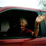 "I like to think of Aunt Lucille driving off and happy to be going...  She always said ""Bye Bye"" in her cheerful little way..."
