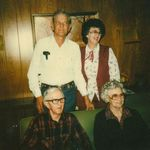 Bob and Dorthy Knappick in back,  Fritz and Frieda Wehring in front