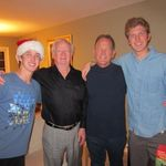 2012 Christmas with nephew Scott and g-nephews Brett & Troy