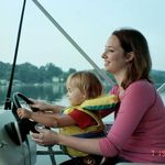 2004 Tiff driving with Tori on Guilford Lake, OH