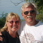 Doug & Sherry at our favorite campground at Port Crecant State Park