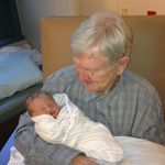 The birth of granddaughter Elizabeth, September 2012