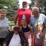 Papa's last birthday in July at Gramps house, wonderful day with the family!