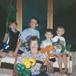 Martha goofing off with the grandkids