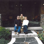 Ted with Mom, Dad, and Fred the Dog